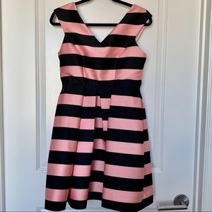 TOPSHOP Pink & Black Stripe Party Dress NWT!